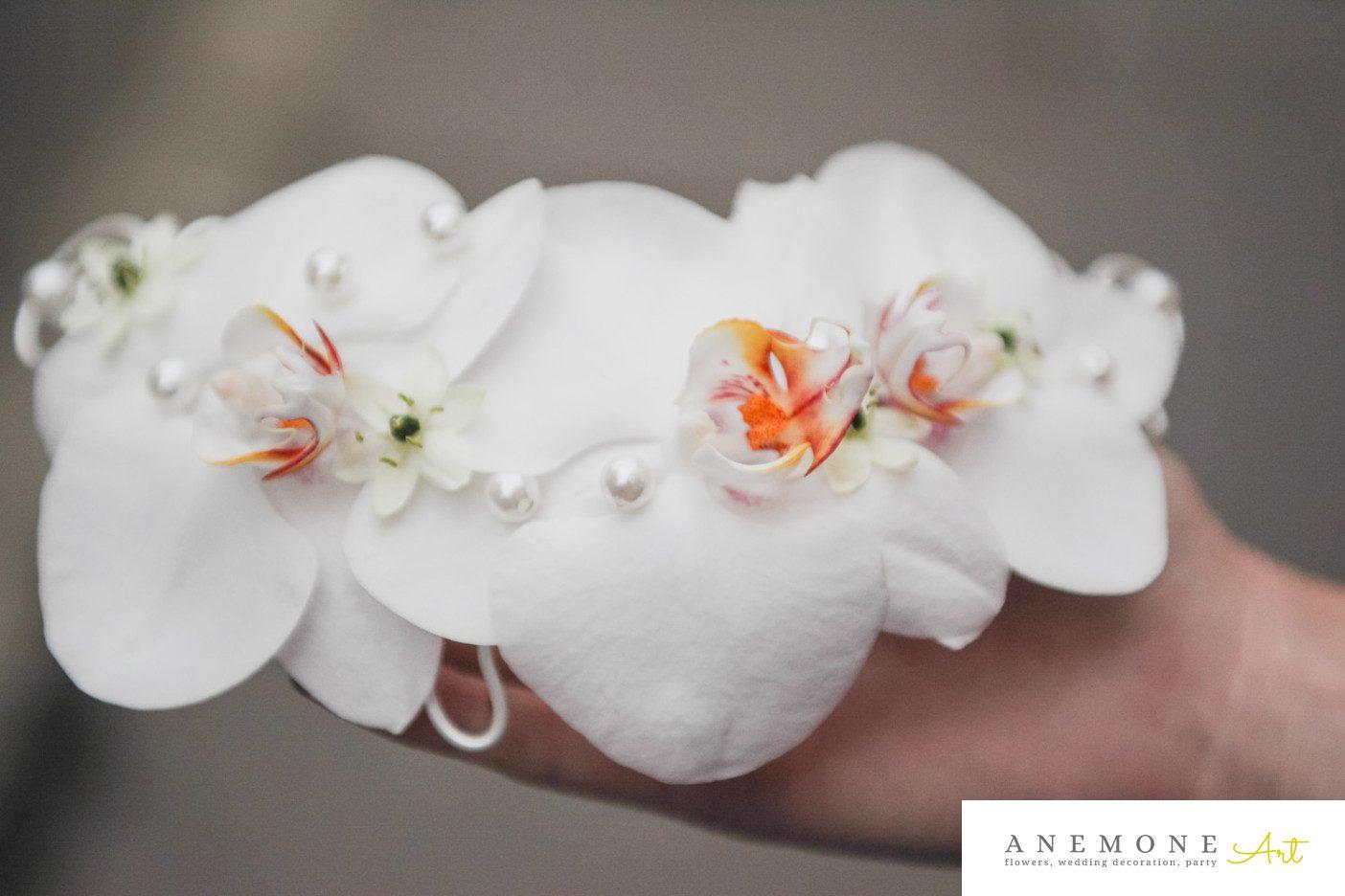 Poza, foto cu Flori de nunta alb, aranjament par, orhidee, phalaenopsis in Arad, Timisoara, Oradea (wedding flowers, bouquets) nunta Arad, Timisoara, Oradea