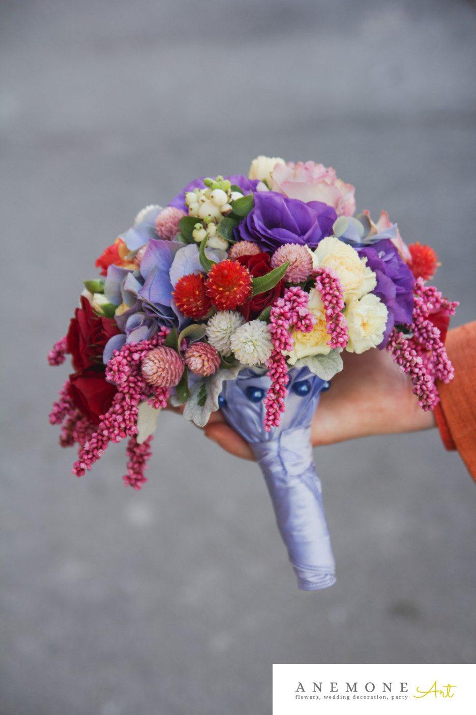 Poza, foto cu Flori de nunta buchet mireasa, mov, multicolor in Arad, Timisoara, Oradea (wedding flowers, bouquets) nunta Arad, Timisoara, Oradea