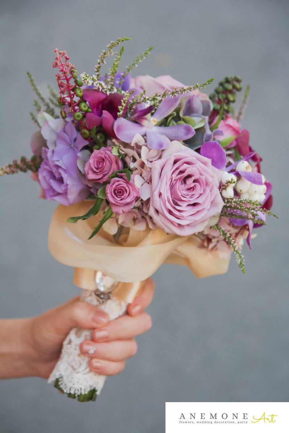Poza, foto cu Flori de nunta buchet cununie, mov in Arad, Timisoara, Oradea (wedding flowers, bouquets) nunta Arad, Timisoara, Oradea