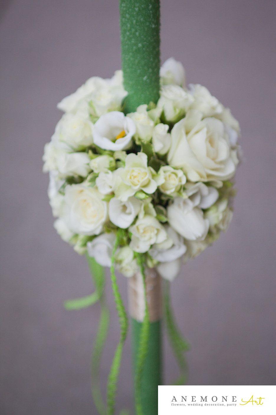 Poza, foto cu Flori de nunta lumanare botez in Arad, Timisoara, Oradea (wedding flowers, bouquets) nunta Arad, Timisoara, Oradea