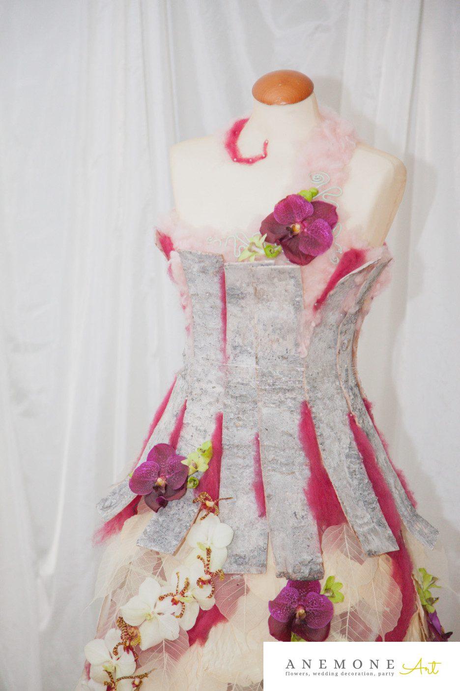 Poza, foto cu Flori de nunta decor sala, rochie flori in Arad, Timisoara, Oradea (wedding flowers, bouquets) nunta Arad, Timisoara, Oradea