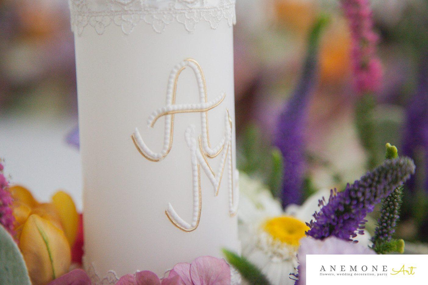 Poza, foto cu Flori de nunta lumanare, multicolor, prezidiu in Arad, Timisoara, Oradea (wedding flowers, bouquets) nunta Arad, Timisoara, Oradea