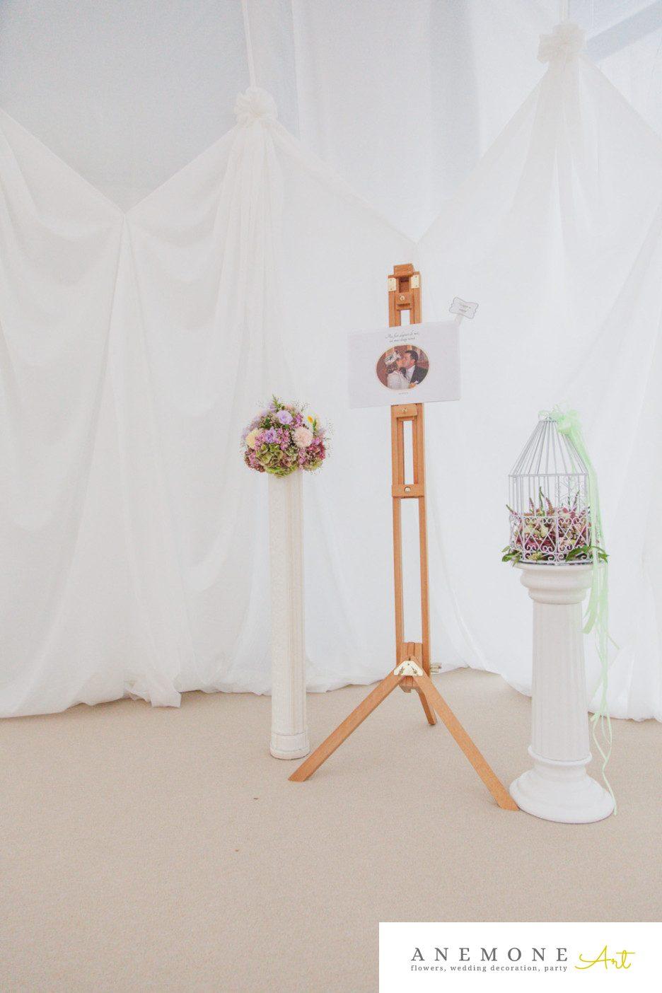Poza, foto cu Flori de nunta colivie, decor sala, stalp in Arad, Timisoara, Oradea (wedding flowers, bouquets) nunta Arad, Timisoara, Oradea