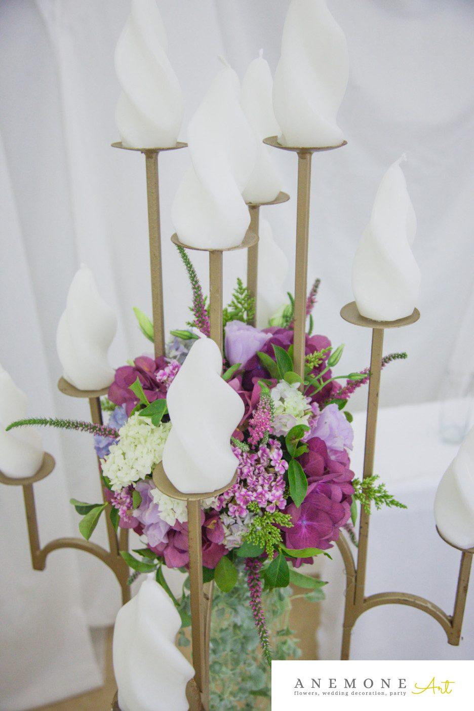 Poza, foto cu Flori de nunta decor sala, multicolor, sfesnic in Arad, Timisoara, Oradea (wedding flowers, bouquets) nunta Arad, Timisoara, Oradea