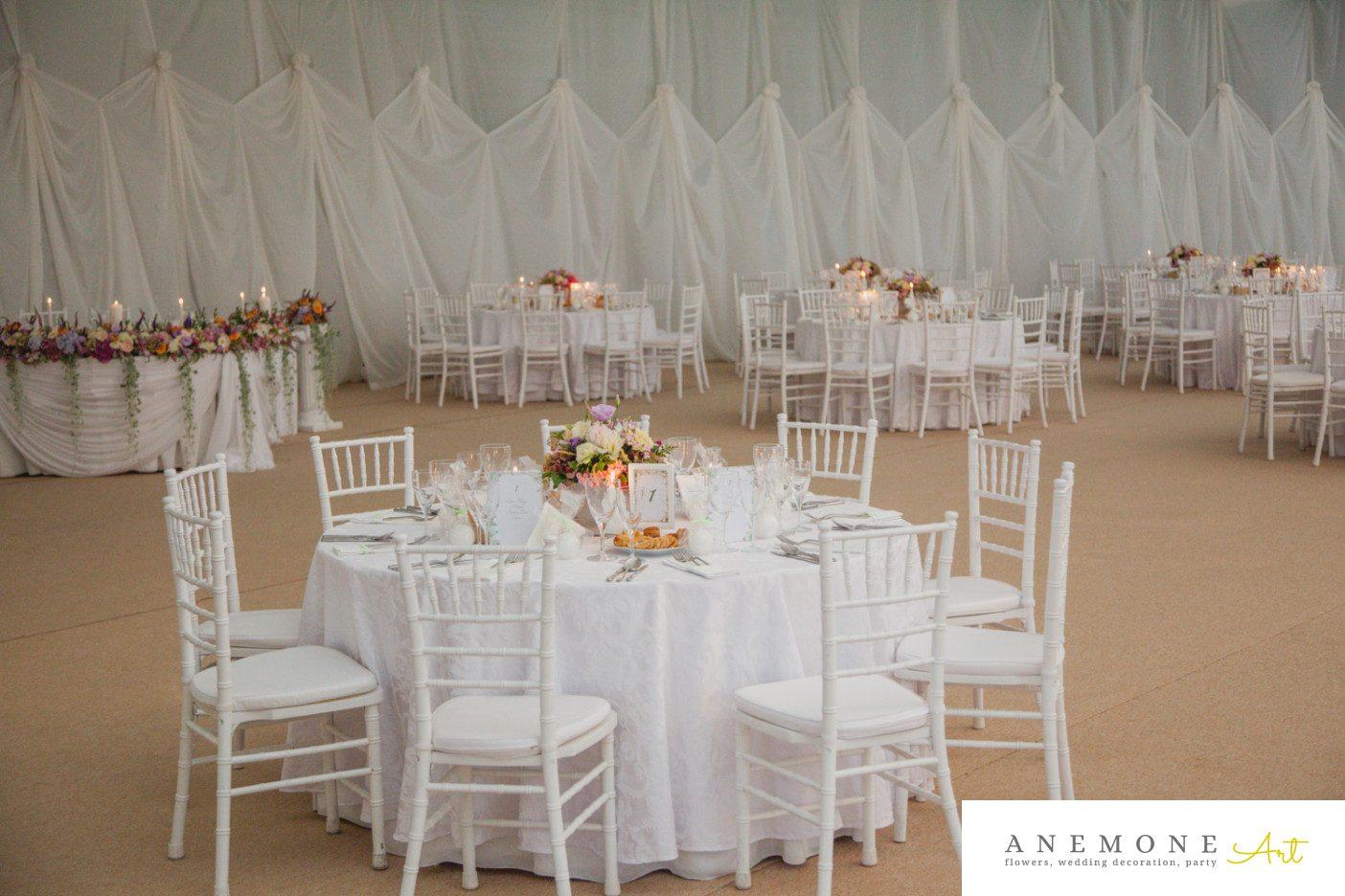 Poza, foto cu Flori de nunta decor masa, decor sala in Arad, Timisoara, Oradea (wedding flowers, bouquets) nunta Arad