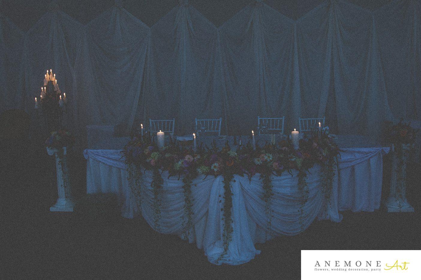 Poza, foto cu Flori de nunta lumanare, prezidiu in Arad, Timisoara, Oradea (wedding flowers, bouquets) nunta Arad, Timisoara, Oradea