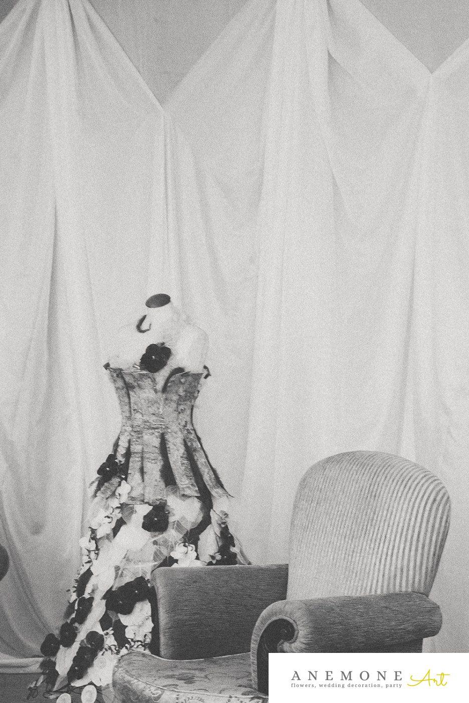 Poza, foto cu Flori de nunta decor sala, rochie flori in Arad, Timisoara, Oradea (wedding flowers, bouquets) nunta Arad