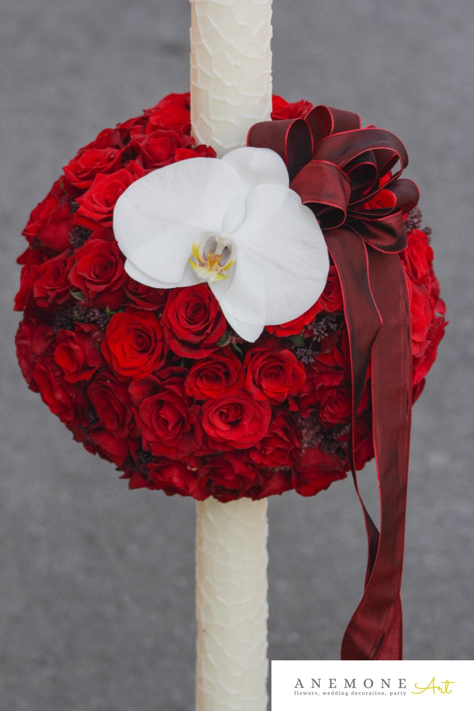Poza, foto cu Flori de nunta lumanare cununie, orhidee in Arad, Timisoara, Oradea (wedding flowers, bouquets) nunta Arad