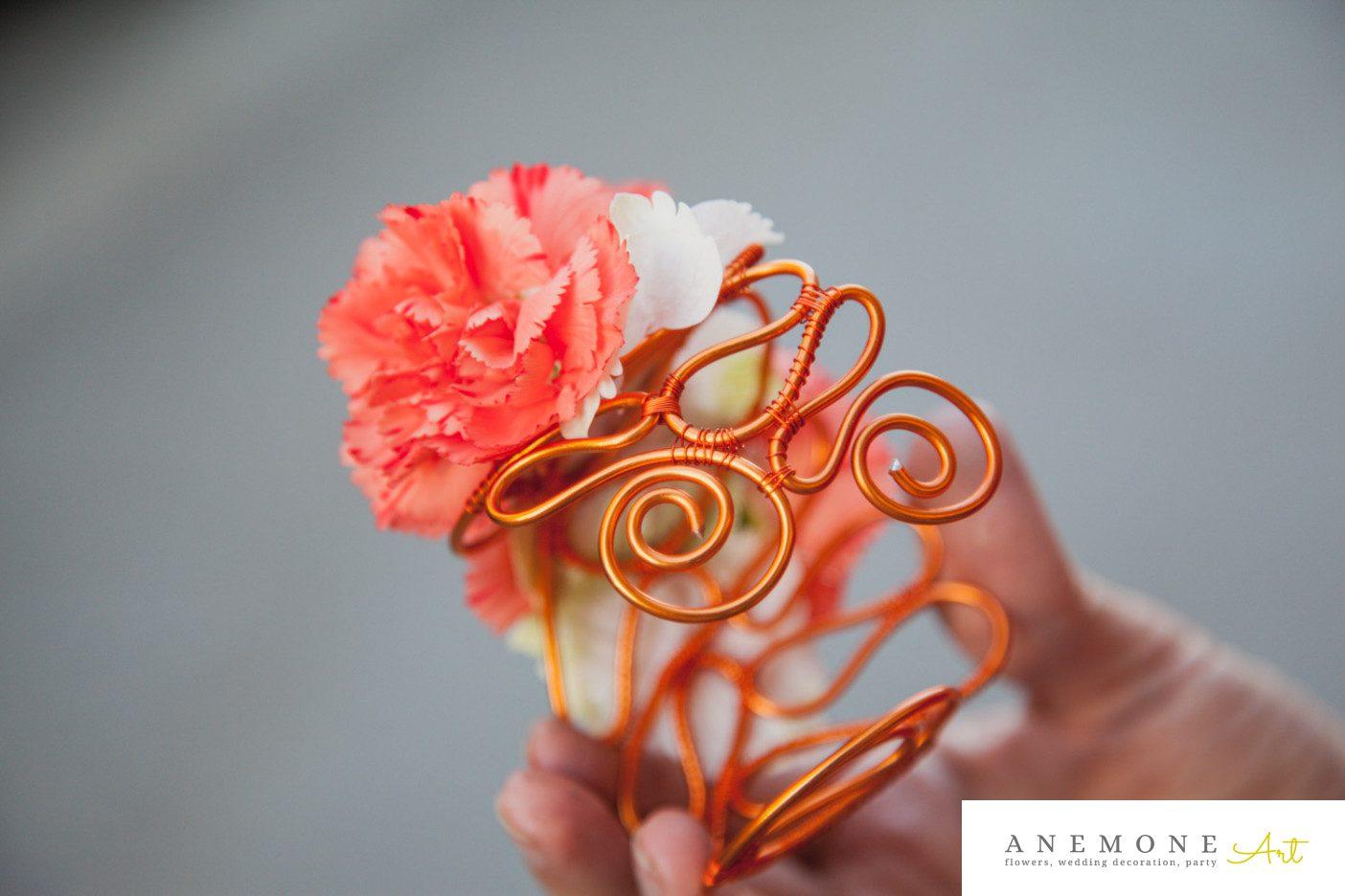 Poza, foto cu Flori de nunta bratara, portocaliu in Arad, Timisoara, Oradea (wedding flowers, bouquets) nunta Arad, Timisoara, Oradea