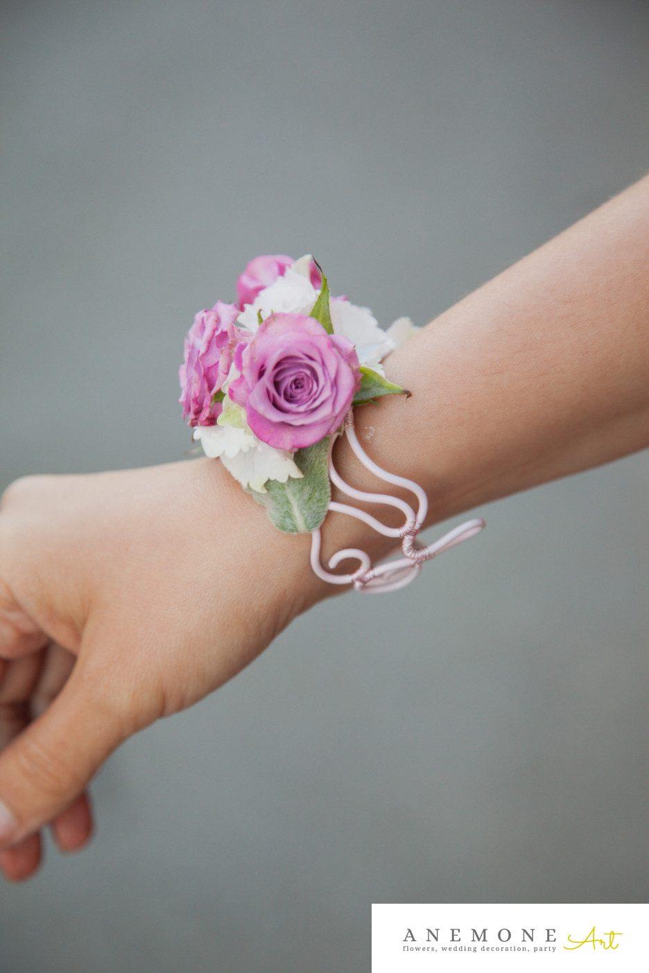 Poza, foto cu Flori de nunta bratara, mini-rosa, roz in Arad, Timisoara, Oradea (wedding flowers, bouquets) nunta Arad, Timisoara, Oradea