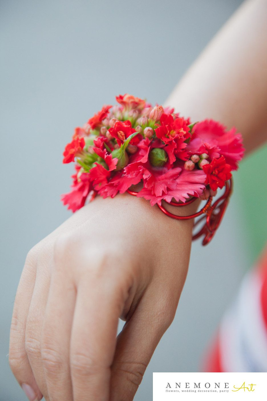 Poza, foto cu Flori de nunta bratara, rosu in Arad, Timisoara, Oradea (wedding flowers, bouquets) nunta Arad, Timisoara, Oradea