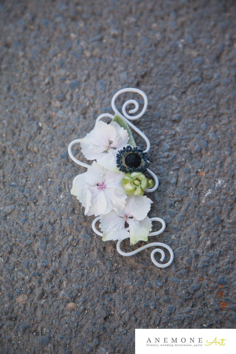 Poza, foto cu Flori de nunta alb, cocarda, crem, hortensia in Arad, Timisoara, Oradea (wedding flowers, bouquets) nunta Arad, Timisoara, Oradea