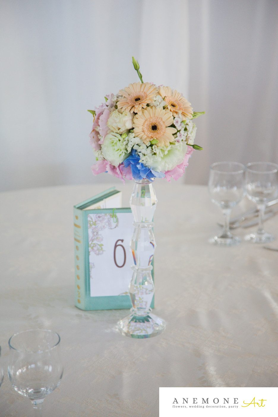 Poza, foto cu Flori de nunta decor masa, piersica in Arad, Timisoara, Oradea (wedding flowers, bouquets) nunta Arad, Timisoara, Oradea