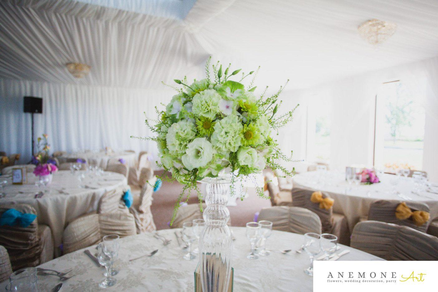 Poza, foto cu Flori de nunta decor masa, verde in Arad, Timisoara, Oradea (wedding flowers, bouquets) nunta Arad, Timisoara, Oradea