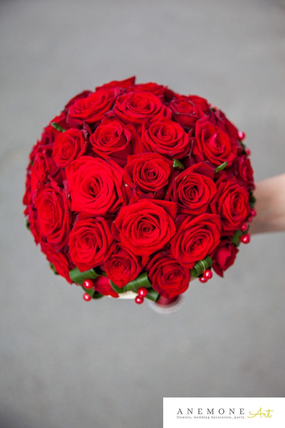 Poza, foto cu Flori de nunta buchet mireasa, rosu, trandafiri in Arad, Timisoara, Oradea (wedding flowers, bouquets) nunta Arad, Timisoara, Oradea