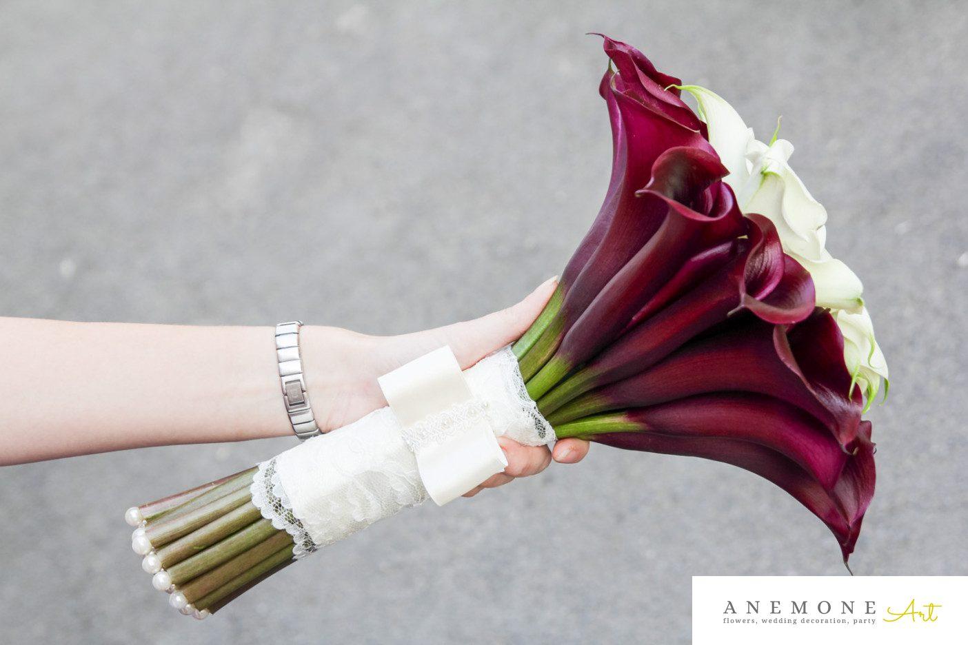 Poza, foto cu Flori de nunta buchet mireasa, calla, maner buchet in Arad, Timisoara, Oradea (wedding flowers, bouquets) nunta Arad