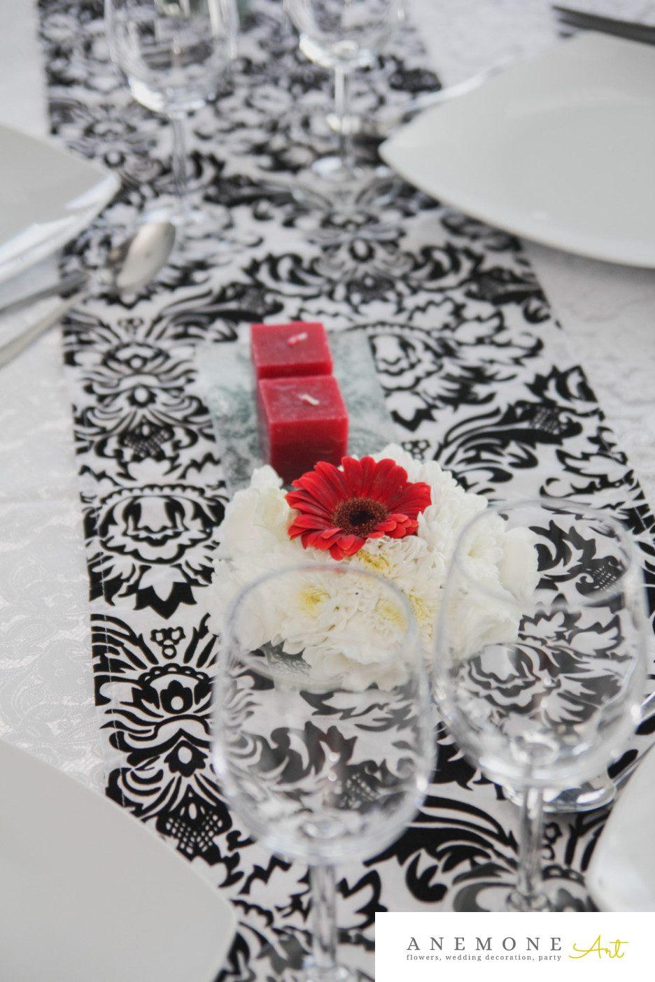 Poza, foto cu Flori de nunta decor masa, lumanare, rosu, visiniu in Arad, Timisoara, Oradea (wedding flowers, bouquets) nunta Arad, Timisoara, Oradea