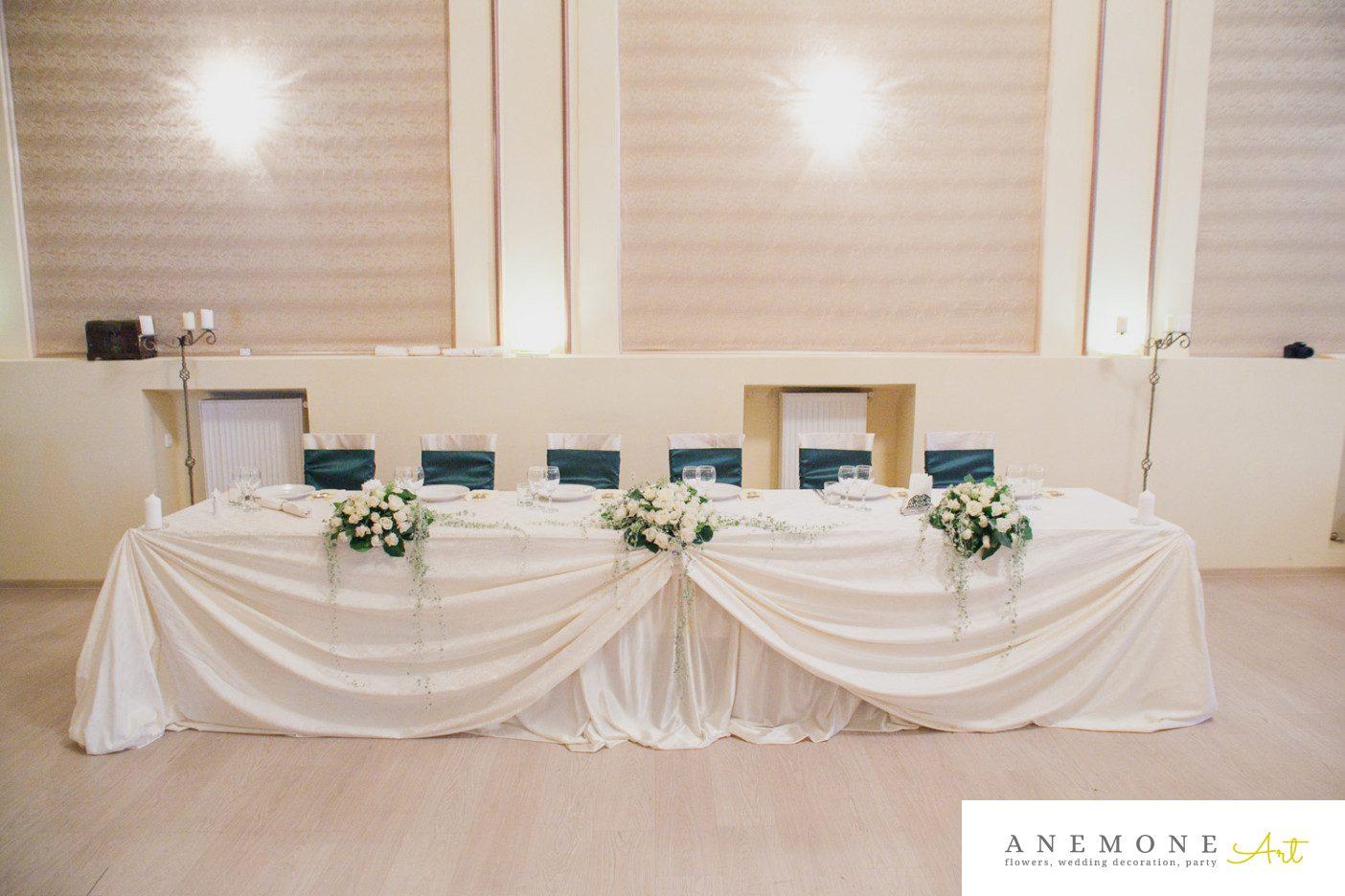 Poza, foto cu Flori de nunta decor masa, prezidiu in Arad, Timisoara, Oradea (wedding flowers, bouquets) nunta Arad, Timisoara, Oradea