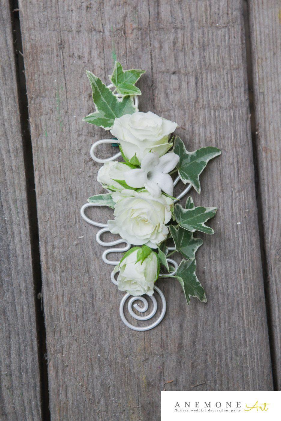 Poza, foto cu Flori de nunta butoniera, mini-rosa, mire, stephanotis, trandafiri in Arad, Timisoara, Oradea (wedding flowers, bouquets) nunta Arad, Timisoara, Oradea