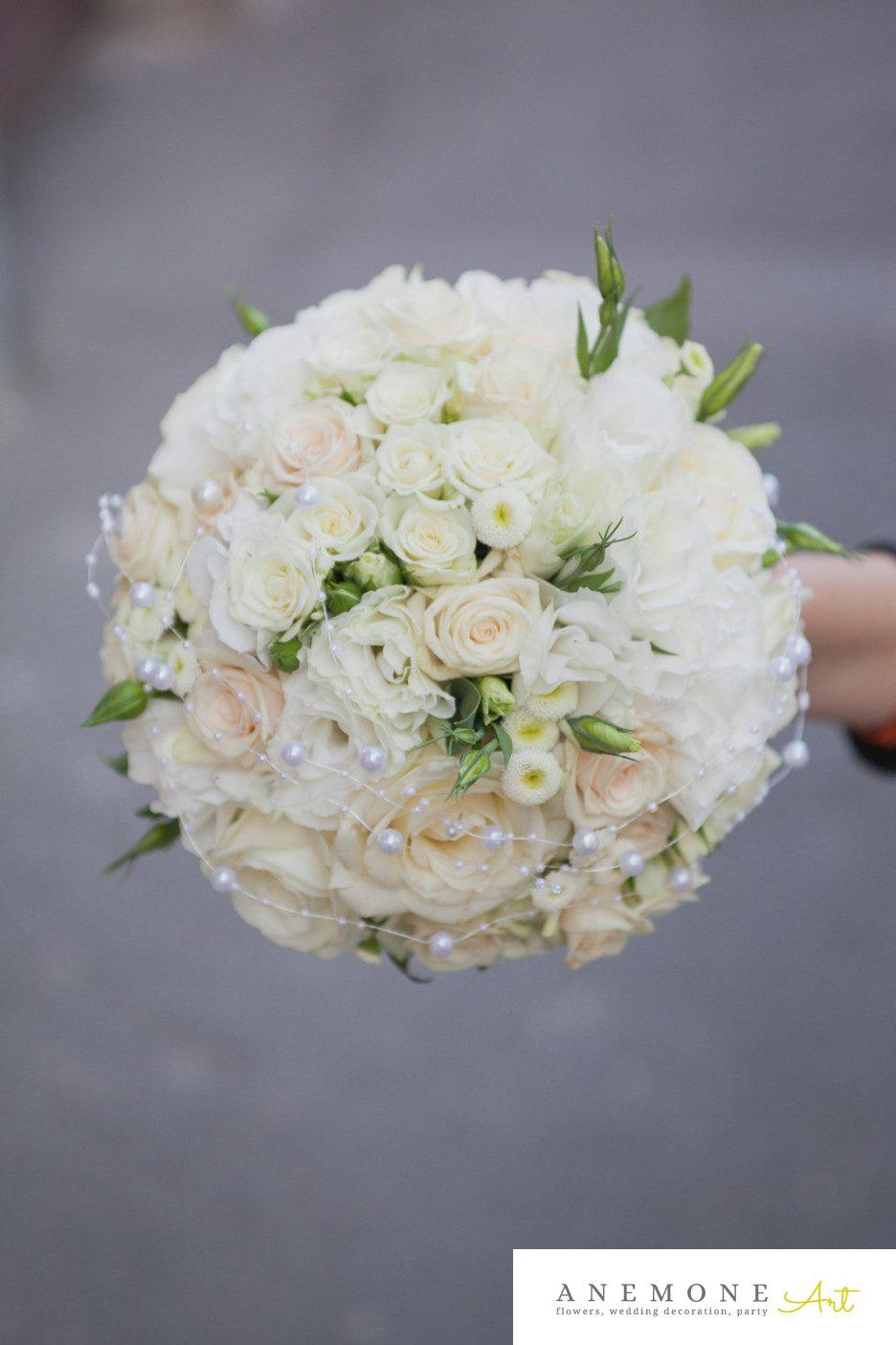 Poza, foto cu Flori de nunta buchet mireasa, lisianthus in Arad, Timisoara, Oradea (wedding flowers, bouquets) nunta Arad