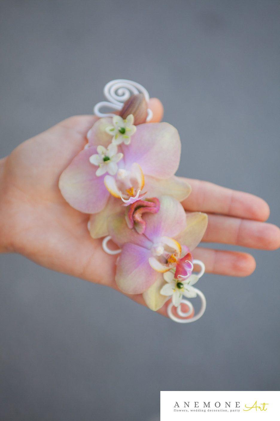 Poza, foto cu Flori de nunta alb, aranjament par, orhidee, ornitogallum, pastel, phalaenopsis in Arad, Timisoara, Oradea (wedding flowers, bouquets) nunta Arad, Timisoara, Oradea