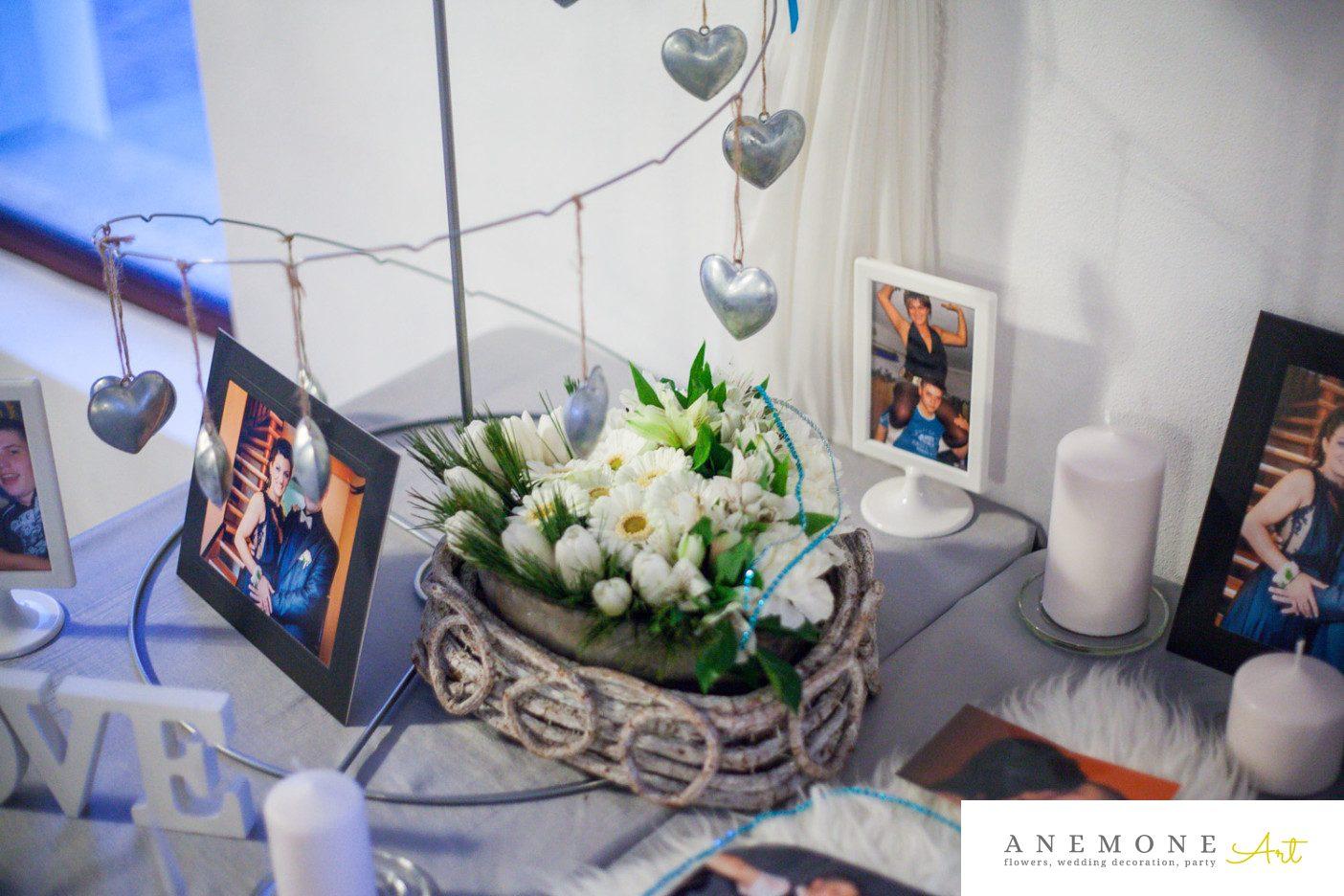 Poza, foto cu Flori de nunta decor sala, inima in Arad, Timisoara, Oradea (wedding flowers, bouquets) nunta Arad