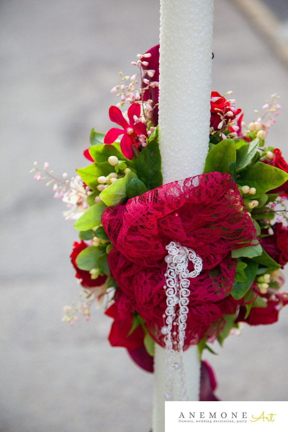 Poza, foto cu Flori de nunta calla, lumanare cununie in Arad, Timisoara, Oradea (wedding flowers, bouquets) nunta Arad, Timisoara, Oradea