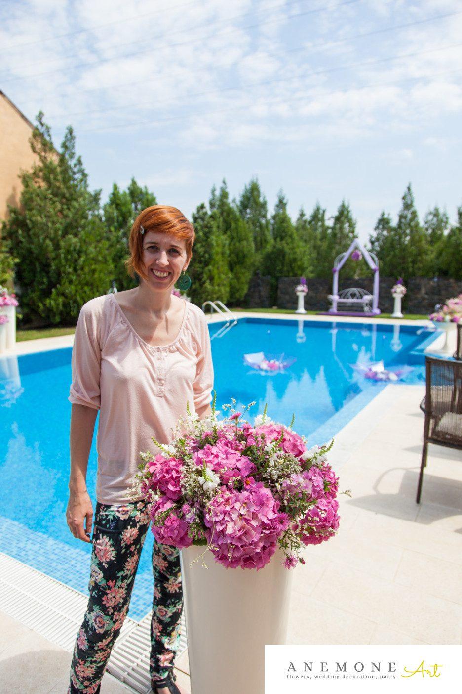 Poza, foto cu Flori de nunta hortensia in Arad, Timisoara, Oradea (wedding flowers, bouquets) nunta Arad