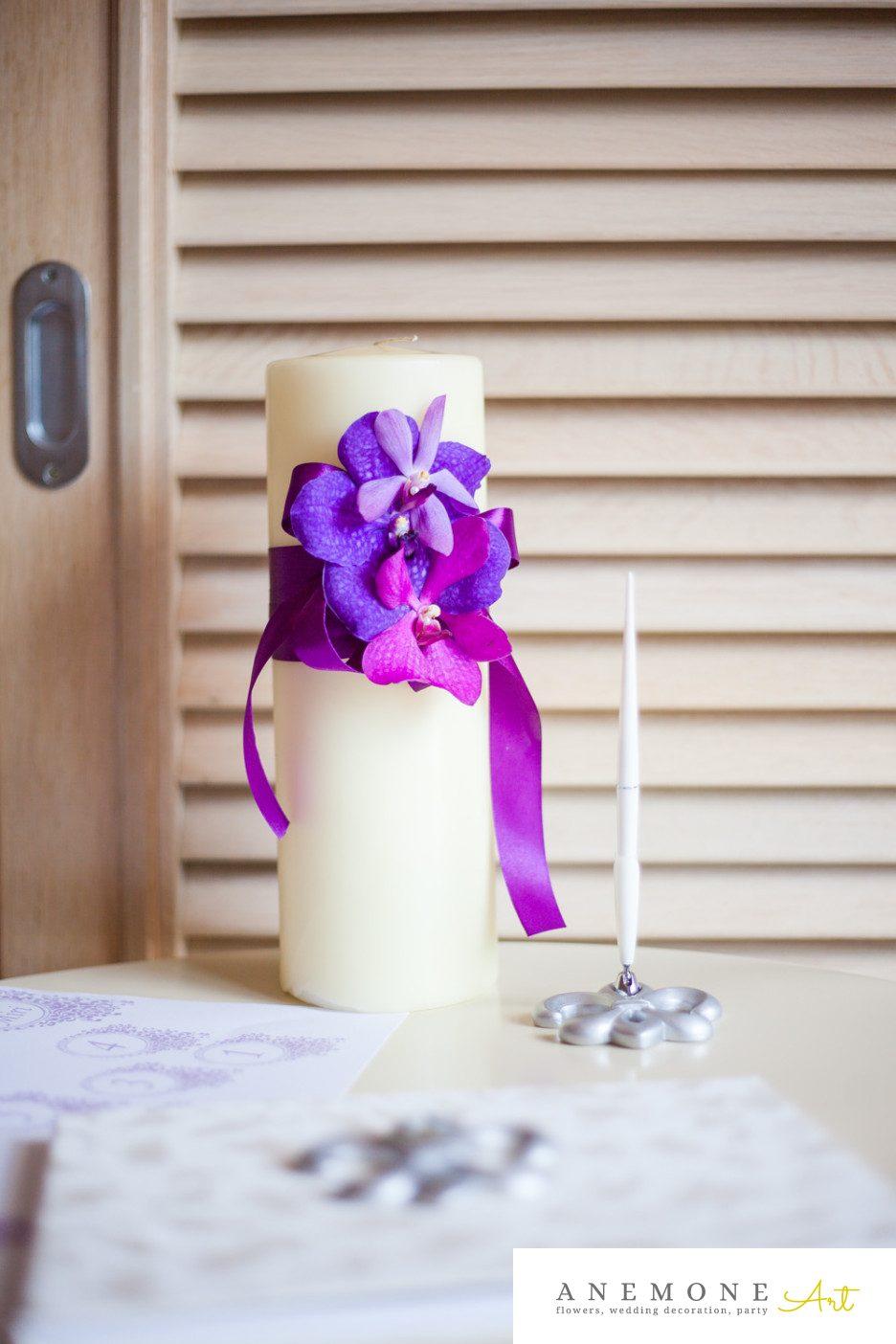 Poza, foto cu Flori de nunta decor tematic, lumanare, orhidee, vanda in Arad, Timisoara, Oradea (wedding flowers, bouquets) nunta Arad, Timisoara, Oradea