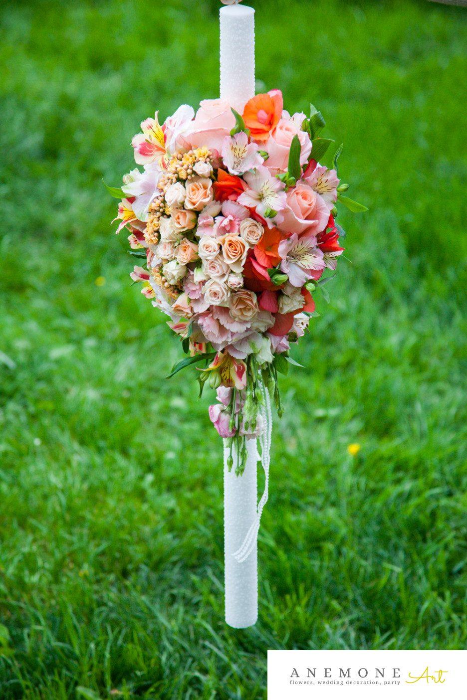 Poza, foto cu Flori de nunta lumanare botez in Arad, Timisoara, Oradea (wedding flowers, bouquets) nunta Arad