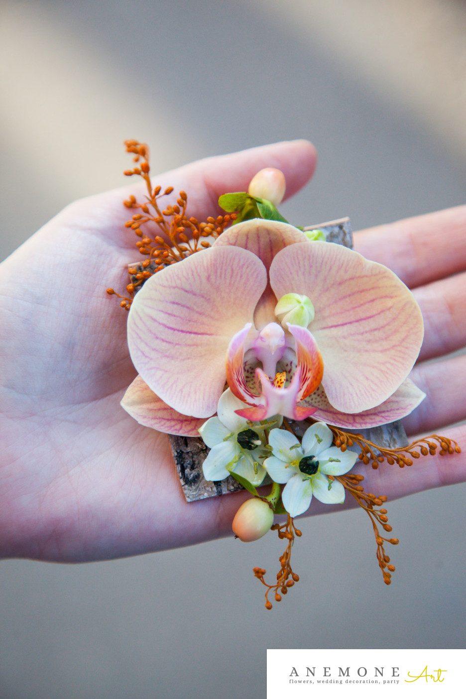 Poza, foto cu Flori de nunta cocarda, orhidee, phalaenopsis, piersica in Arad, Timisoara, Oradea (wedding flowers, bouquets) nunta Arad, Timisoara, Oradea