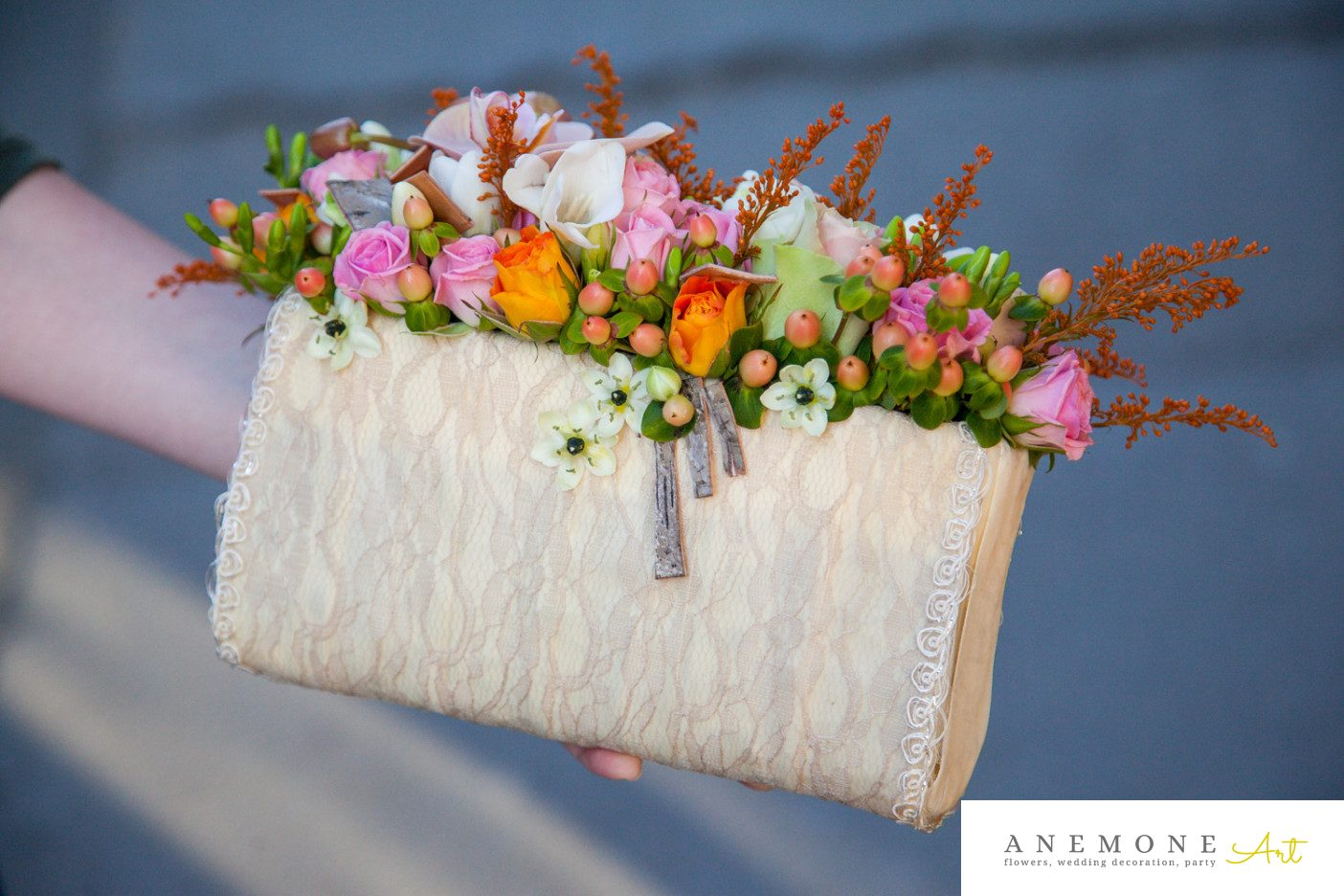 Poza, foto cu Flori de nunta piersica, poseta in Arad, Timisoara, Oradea (wedding flowers, bouquets) nunta Arad, Timisoara, Oradea