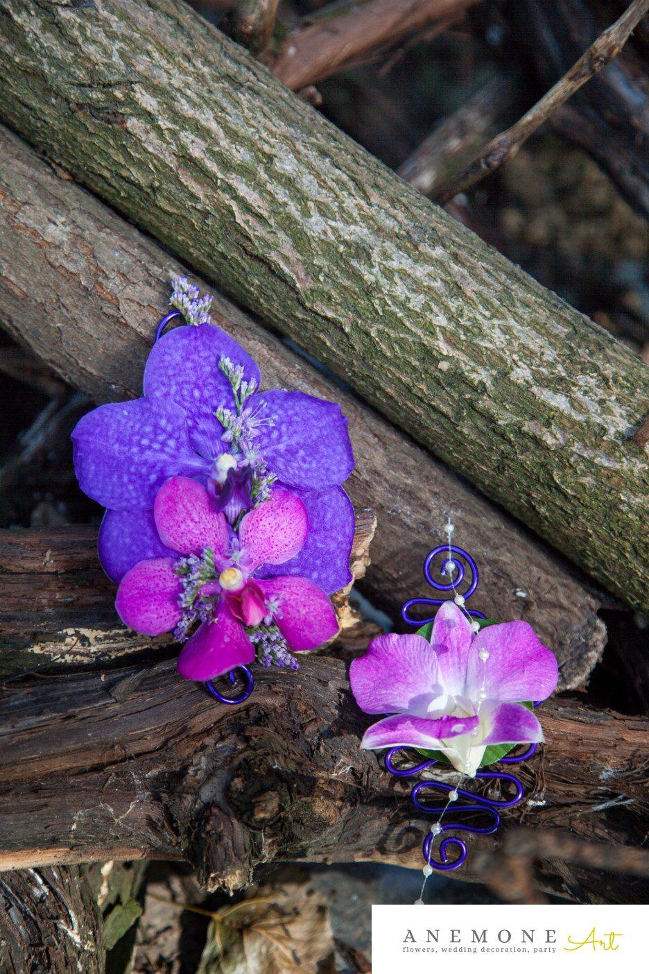 Poza, foto cu Flori de nunta cocarda, mov, orhidee, ticlam in Arad, Timisoara, Oradea (wedding flowers, bouquets) nunta Arad, Timisoara, Oradea