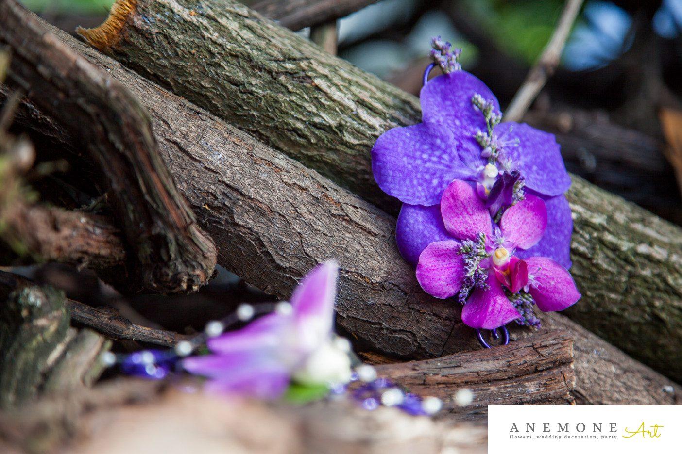Poza, foto cu Flori de nunta cocarda, mov, orhidee, ticlam, vanda in Arad, Timisoara, Oradea (wedding flowers, bouquets) nunta Arad, Timisoara, Oradea