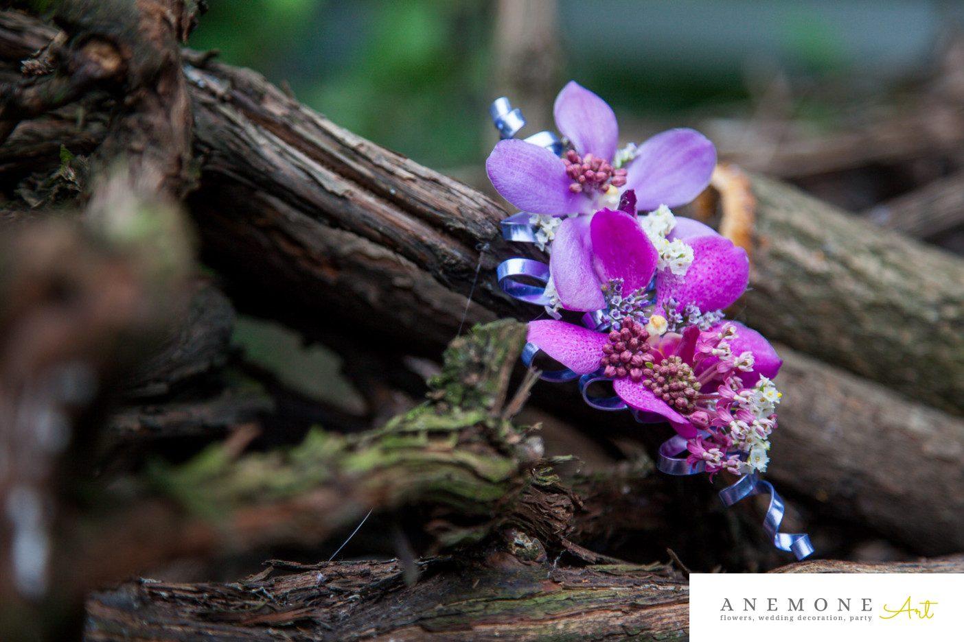 Poza, foto cu Flori de nunta cocarda, mire, mov, orhidee, vanda in Arad, Timisoara, Oradea (wedding flowers, bouquets) nunta Arad, Timisoara, Oradea
