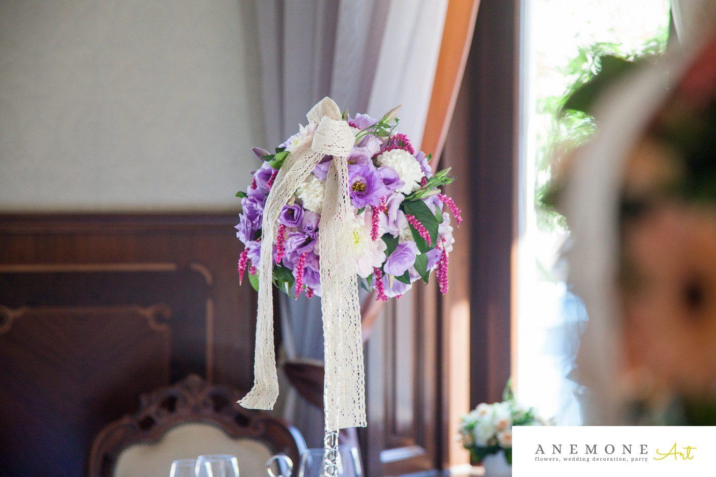 Poza, foto cu Flori de nunta decor masa, mov in Arad, Timisoara, Oradea (wedding flowers, bouquets) nunta Arad, Timisoara, Oradea