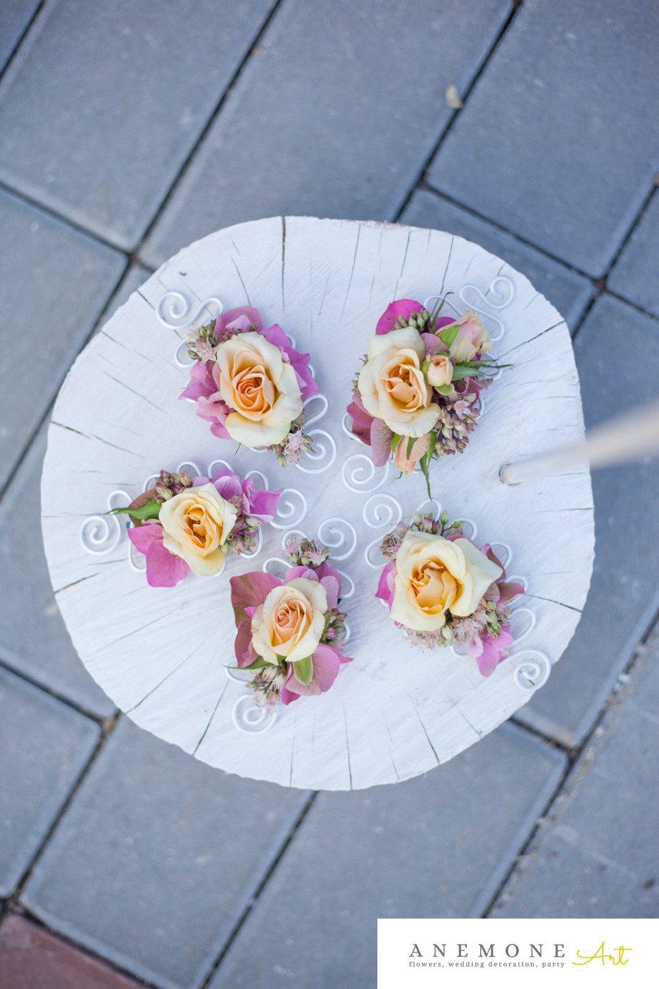 Poza, foto cu Flori de nunta cocarda, piersica, roz in Arad, Timisoara, Oradea (wedding flowers, bouquets) nunta Arad, Timisoara, Oradea