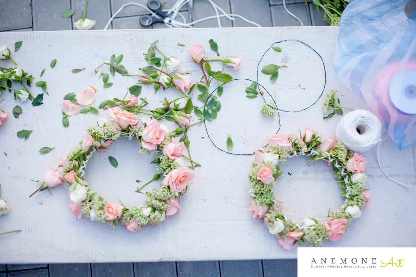 Poza, foto cu Flori de nunta aranjament par, coronita in Arad, Timisoara, Oradea (wedding flowers, bouquets) nunta Arad