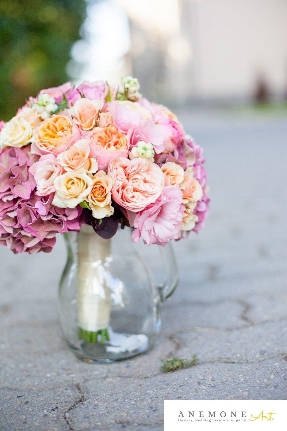 Poza, foto cu Flori de nunta buchet mireasa, hortensia in Arad, Timisoara, Oradea (wedding flowers, bouquets) nunta Arad