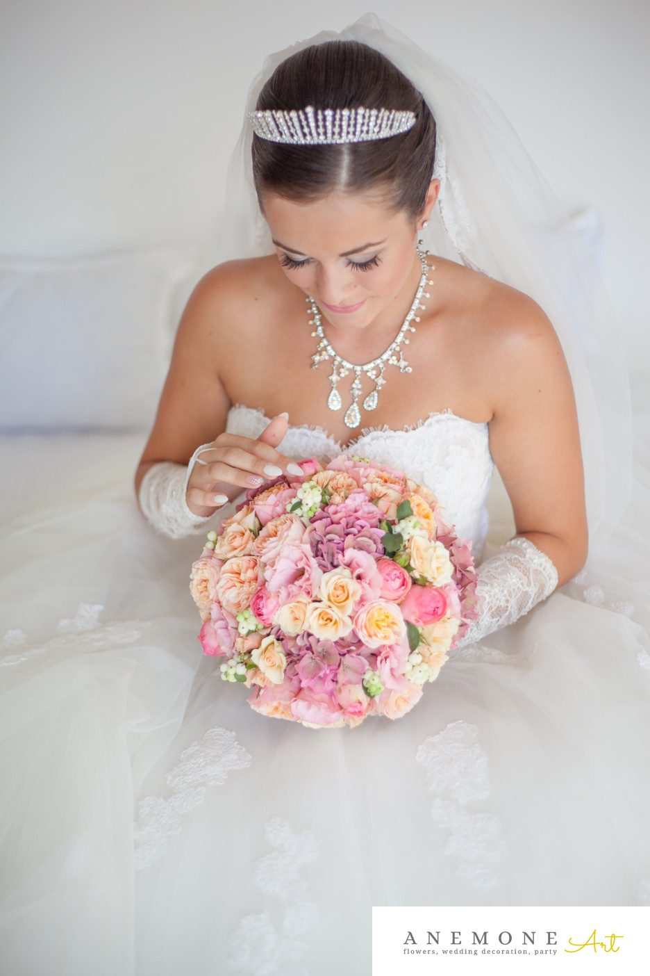 Poza, foto cu Flori de nunta buchet mireasa, piersica, roz, trandafiri in Arad, Timisoara, Oradea (wedding flowers, bouquets) nunta Arad, Timisoara, Oradea