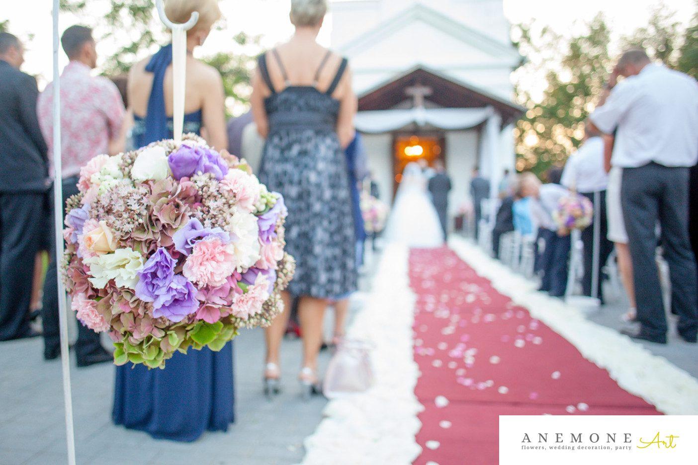 Poza, foto cu Flori de nunta decor biserica, glob in Arad, Timisoara, Oradea (wedding flowers, bouquets) nunta Arad, Timisoara, Oradea
