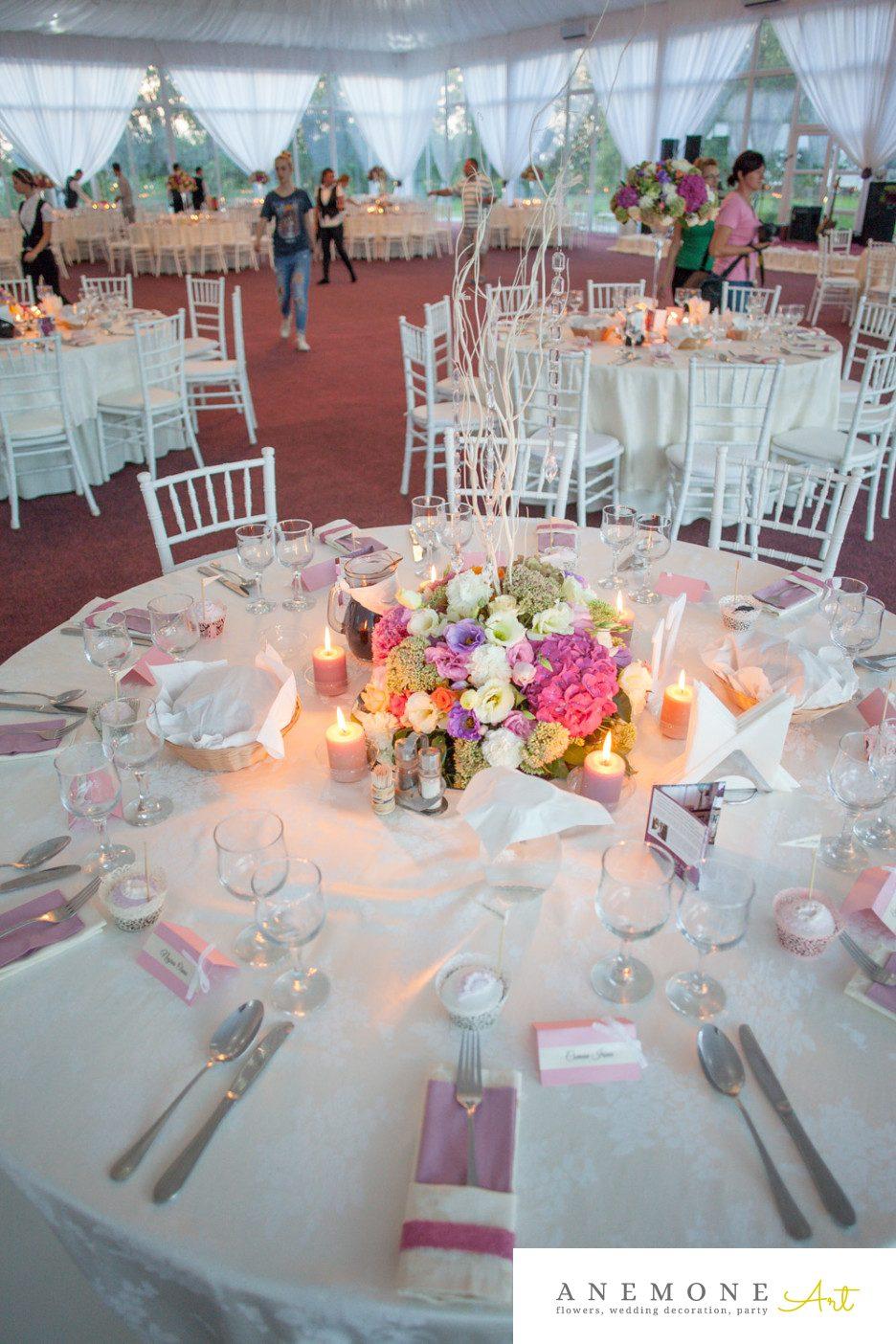 Poza, foto cu Flori de nunta cristale, decor masa, roz in Arad, Timisoara, Oradea (wedding flowers, bouquets) nunta Arad, Timisoara, Oradea