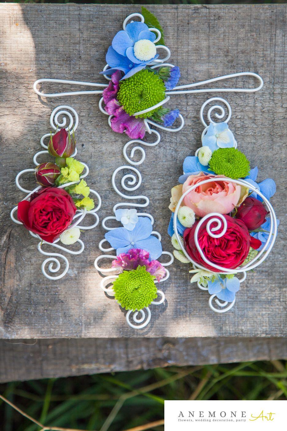 Poza, foto cu Flori de nunta bratara, cocarda, multicolor in Arad, Timisoara, Oradea (wedding flowers, bouquets) nunta Arad, Timisoara, Oradea
