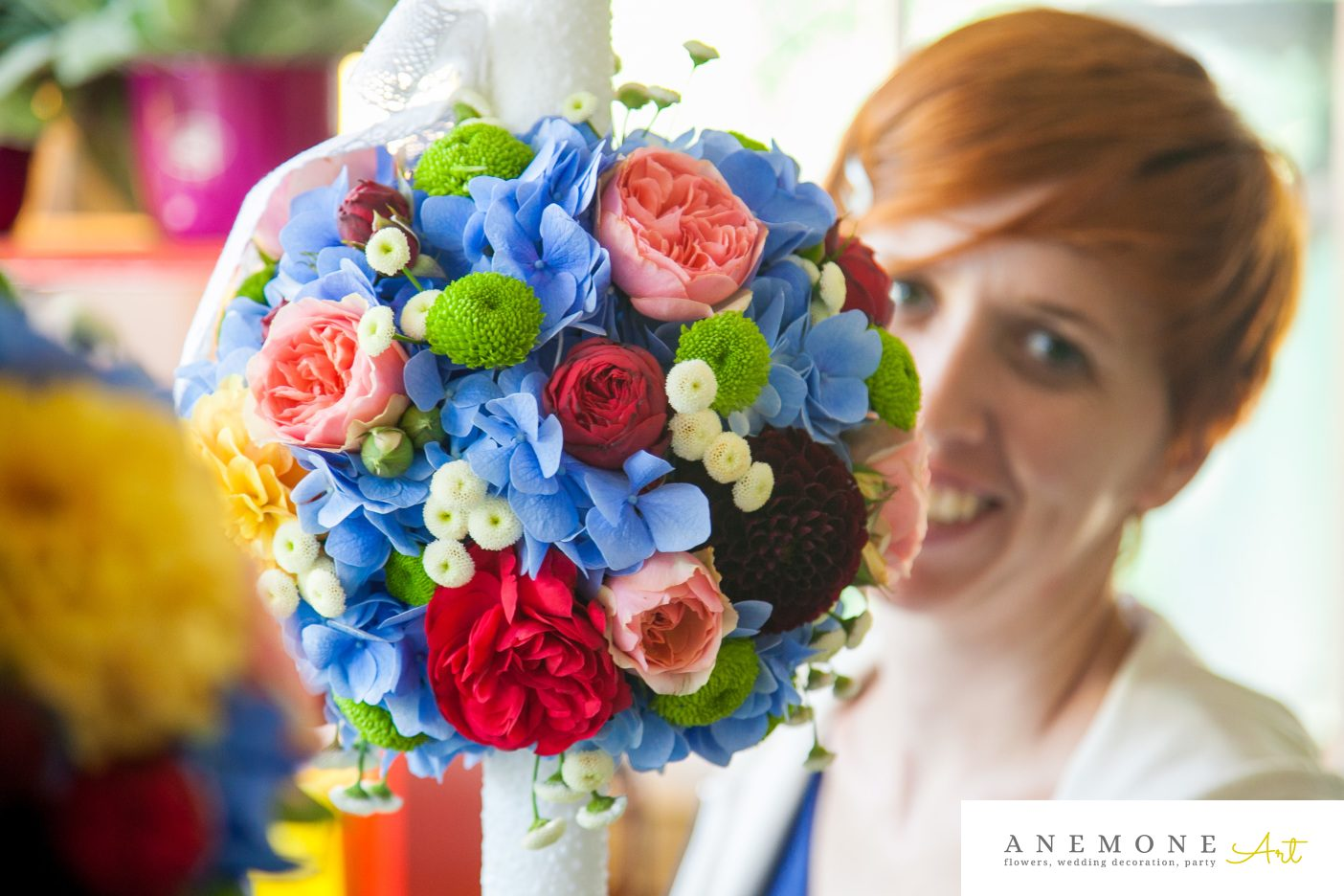 Poza, foto cu Flori de nunta lumanare cununie, multicolor in Arad, Timisoara, Oradea (wedding flowers, bouquets) nunta Arad, Timisoara, Oradea