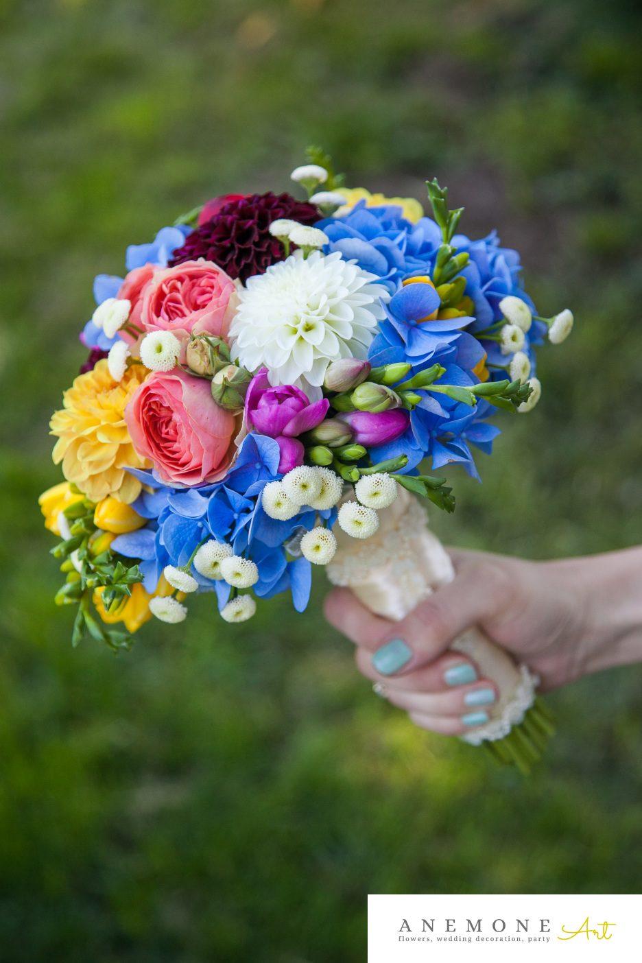 Poza, foto cu Flori de nunta buchet mireasa, multicolor, rotund in Arad, Timisoara, Oradea (wedding flowers, bouquets) nunta Arad, Timisoara, Oradea