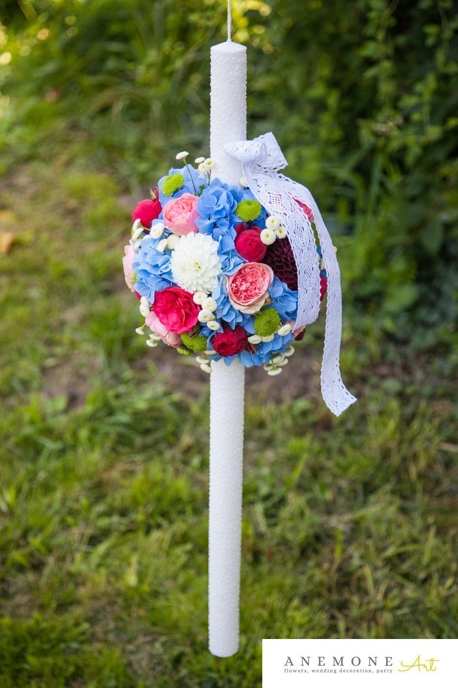 Poza, foto cu Flori de nunta glob, lumanare cununie, multicolor in Arad, Timisoara, Oradea (wedding flowers, bouquets) nunta Arad, Timisoara, Oradea