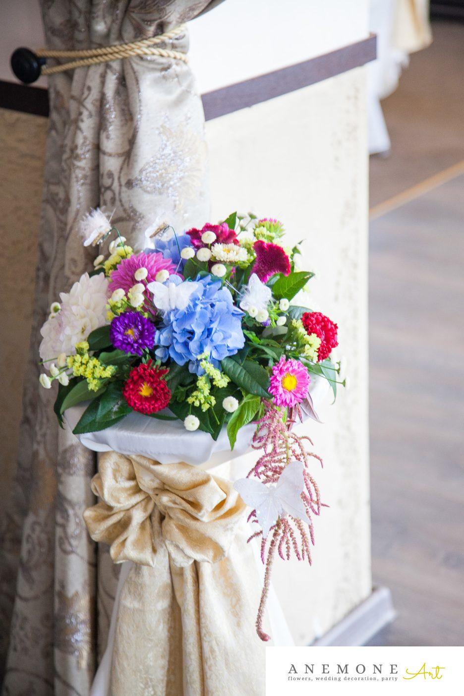 Poza, foto cu Flori de nunta decor sala, multicolor in Arad, Timisoara, Oradea (wedding flowers, bouquets) nunta Arad, Timisoara, Oradea
