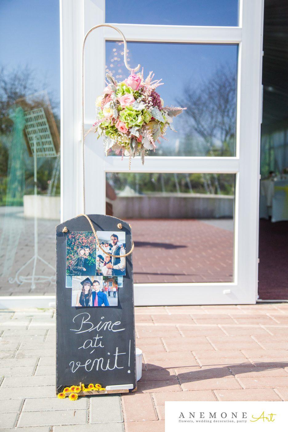 Poza, foto cu Flori de nunta decor sala, roz in Arad, Timisoara, Oradea (wedding flowers, bouquets) nunta Arad, Timisoara, Oradea