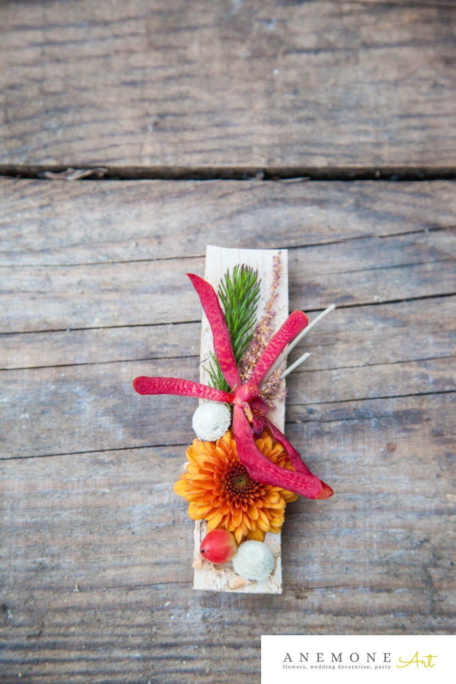 Poza, foto cu Flori de nunta caramiziu, cocarda, vanda in Arad, Timisoara, Oradea (wedding flowers, bouquets) nunta Arad, Timisoara, Oradea