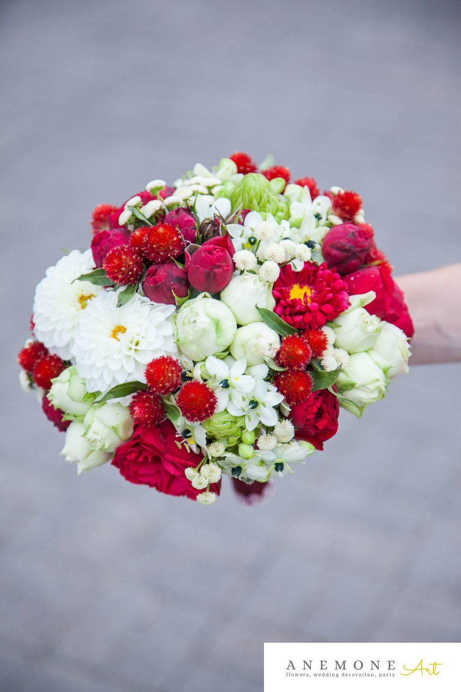 Poza, foto cu Flori de nunta buchet mireasa, rosu, rotund in Arad, Timisoara, Oradea (wedding flowers, bouquets) nunta Arad, Timisoara, Oradea